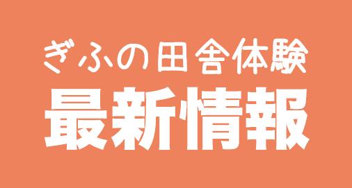 岐阜の田舎体験 最新情報